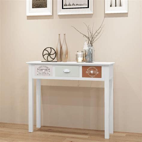 wood shabby chic vidaxl shabby chic french console table wood vidaxl co uk