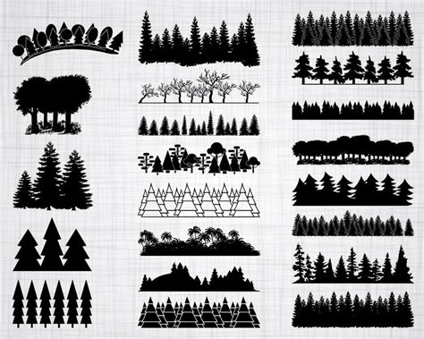 If you're searching for free svg files for cricut or silhouette: Forest SVG Bundle Forest SVG Tree SVG Forest Clipart Cut ...