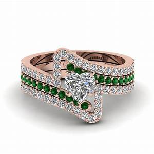 shop our emerald trio wedding ring sets at affordable prices With emerald wedding ring sets