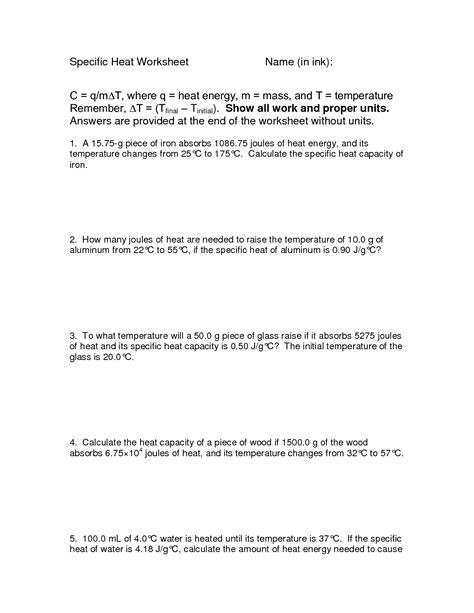 images  heat transfer worksheet answer key