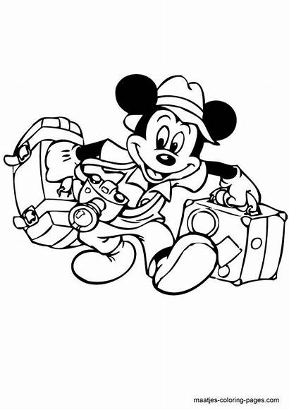 Mickey Coloring Mouse Pages Disney Minnie Sheets