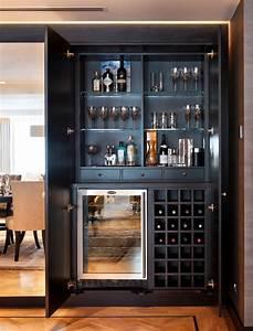 Marvelous Hidden Liquor Cabinet Home Renovations with