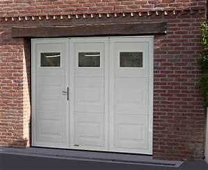 Porte De Garage Pliante À La Française 4 Vantaux : porte de garage 3 battants tout pour votre voiture ~ Nature-et-papiers.com Idées de Décoration