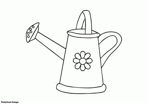 mewarnai gambar alat penyiram bunga