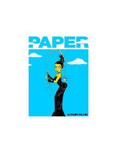 Kim Kardashian Paper Magazine Simpsons Shoot Bum