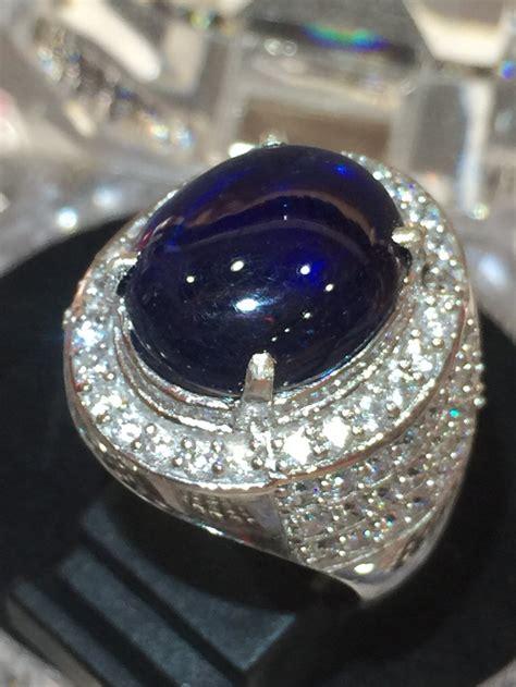 jual cincin pria batu big blue safir 1 di lapak toko
