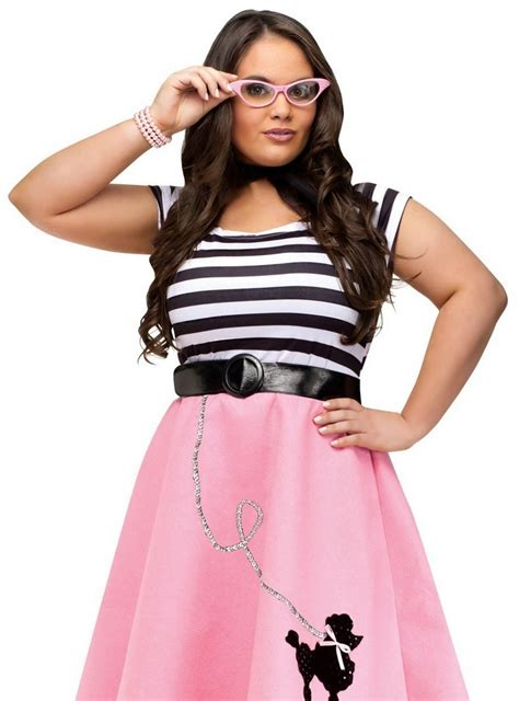 80055073a40 Plus Size Adult 50s Striped Top Candy Apple Costumes