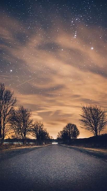 Nature Night Wallpapers Endless Road Tree Roadside