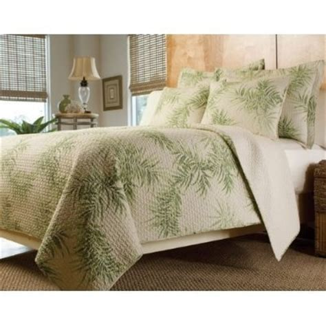 cabo verde king  piece quilt set trees home  tropical