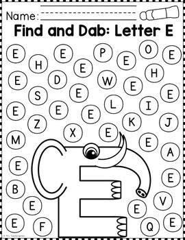 alphabet find  dab  images alphabet worksheets