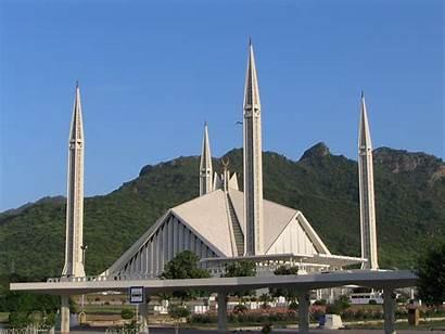 Pakistan Faisal Mosque Islamabad Landmarks Wallpapers Masjid