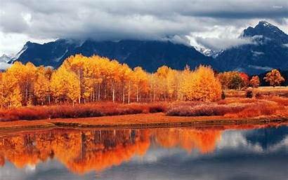 Autumn Nature Landscape Wallpapers Fall Mountain Lake