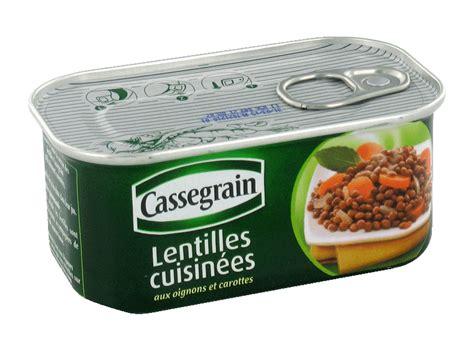 cuisiner des lentilles en boite lentilles cuisinees cassegrain boite 1 4 130g tous les