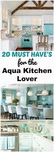 Retro, Aqua, Kitchen, Decor, Lover