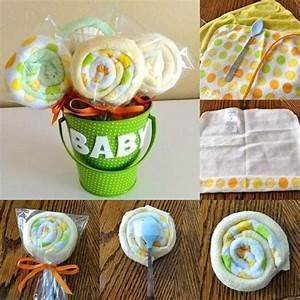 Geschenke Zur Geburt Basteln : babyparty geschenke deko baby waschlappen lolipops selber machen baby party pinterest baby ~ Udekor.club Haus und Dekorationen