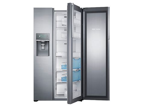 samsung side by side 29 cu ft side by side food showcase refrigerator with metal cooling refrigerators