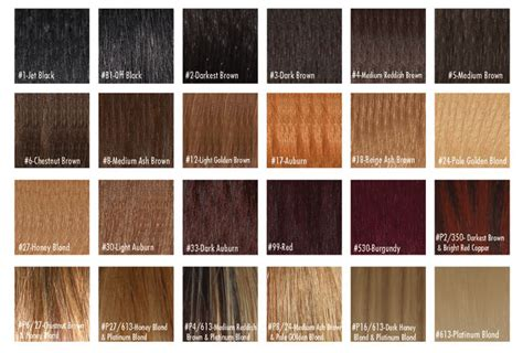 Buy Human Hair Color Chart From Arrow Exim, India