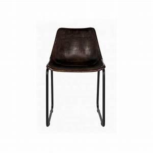 Chaise Vintage Cuir : chaise cuir v ritable vintage woood ~ Teatrodelosmanantiales.com Idées de Décoration