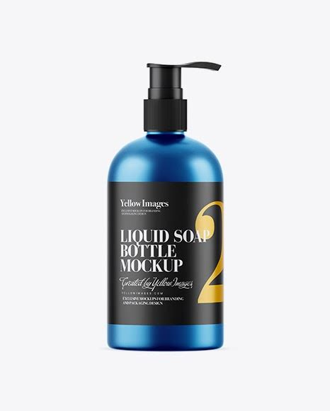 Dear visitor, you went to the site as unregistered user. Matte Metallic Liquid Soap Bottle with Pump Mockup ...