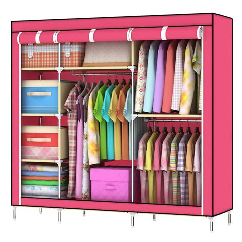 Closet Hangers by Home Portable Cloth Hanger Rack Shelf Closet Foldable