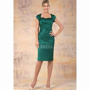 perfect knee length sheath column satin with ruching With sheath dresses for wedding guest