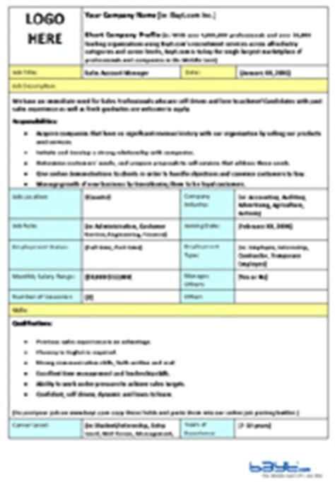 job description templates wsorg templates forms