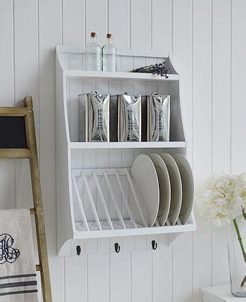 white kitchen plate rack  dinner plates  shelves