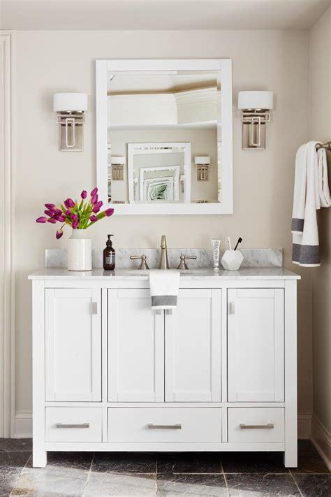 white vanity  marble backsplash enhances master