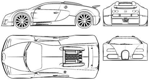 Bugatti Veyron Blueprint by 2005 Bugatti Veyron Eb 16 4 Coupe V2 Blueprints Free