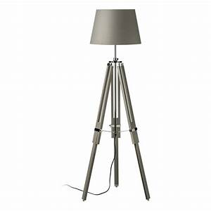buy this grey wood and chrome tripod floor lamp from With floor lamp tall chrome tripod lamp