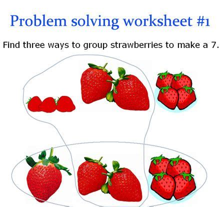 problem solving worksheets   grandkds