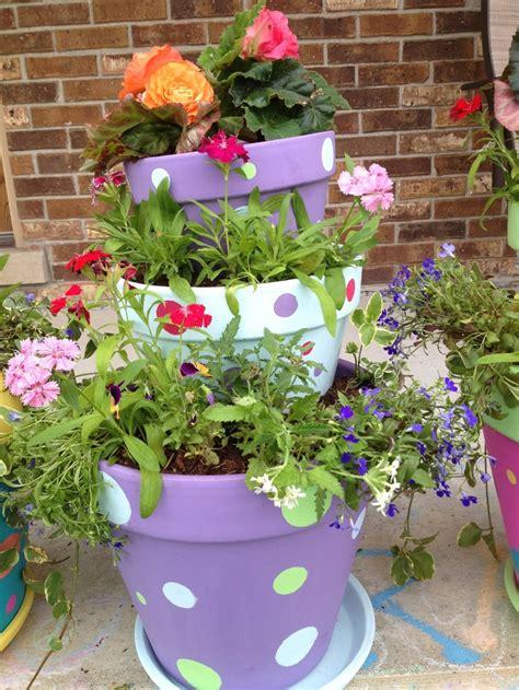 25 best ideas about stacked flower pots on pot decoration ideas flower pot tower