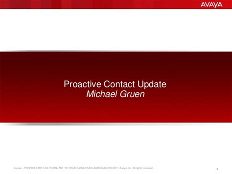 proactive phone number avaya outbound update 15th may 2014