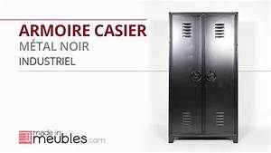 Armoire Casier Metal Noir Industriel YouTube