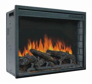23quot electric firebox insert with fan heater and glowing for Fireplace electric log insert with heater