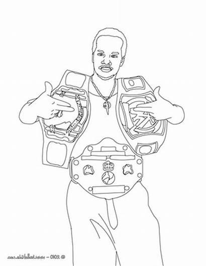 Coloring Belt Wrestling Champion Wrestler Wwe Pages