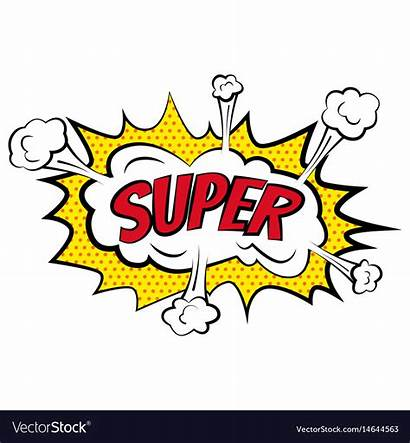 Super Comic Cartoon Labels Vector Bubbles Text