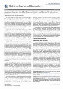 Pdf  The Aberrant Behavior Checklist