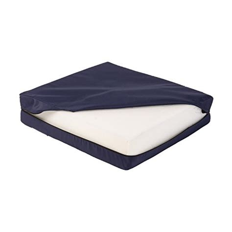 18 Inch Chair Cushions by Duro Med Foam Seat Cushion With Cover Navy 4 Inch X 16