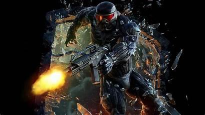 Gun Crysis Glass Games Broken Wallpapers Weapon