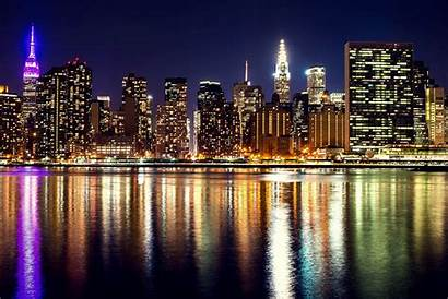 York Night Usa Wallpapers Fondo 4k Cities