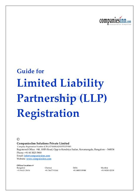 Contract Signature Page Template Uk by Guide For Limited Liability Partnership Llp Registration