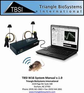 Triangle Biosystems W11 Model 3050 Transmitter Module User