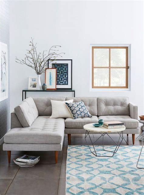 canapé d angle pour petit salon déco moderne pour le salon 85 idées avec canapé gris