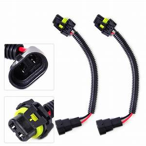 2x Extension Wiring Harness Socket Plug Wire Fit Hb4