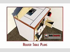 Free Router Table Plans Download