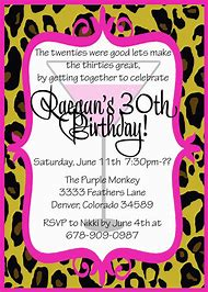 30th Birthday Party Invitation Wording