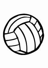 Volleyball Coloring Pages Ball Print Drawing Volleyballs Cartoon Balls Player Clipart Cliparts Clip Getdrawings Library Beach Bouncing Clipartmag sketch template