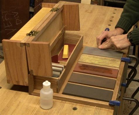hand  woodworkers portable sharpening station