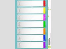 Weekly calendar for notes stock vector Illustration of
